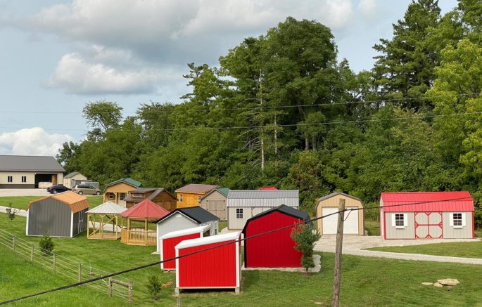Shed Lot of storage sheds for Hocking Hills OH area.