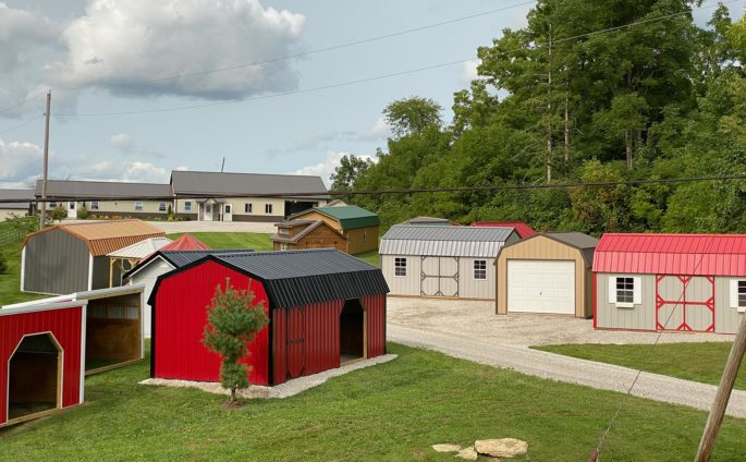 Shed Lot of Portable Buildings In Ohio.